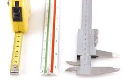 Trois outils de mesure différents Photographie stock