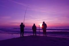 Trois pêcheurs images stock