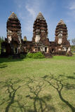 Trois pagodas Photographie stock