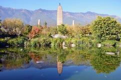 Trois pagodas Photos stock