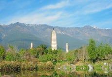 Trois pagodas Images libres de droits