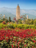 Trois pagodas chez Dali, Chine Image libre de droits