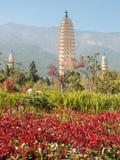 Trois pagodas Dali, Chine Image stock