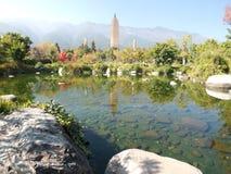 Trois pagodas Dali, Chine Image libre de droits