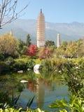 Trois pagodas Dali, Chine Photos libres de droits