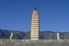 Trois pagodas, Dali, Yunnan, Chine Photos libres de droits