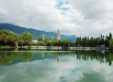 Trois pagodas dans Dali Photos stock