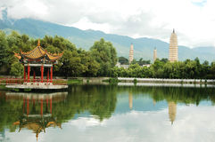 Trois pagodas dans Dali Photographie stock