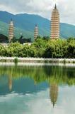 Trois pagodas dans le dali Photographie stock libre de droits
