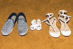 Trois paires de chaussures image libre de droits