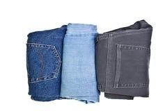 Trois paires de jeans images libres de droits