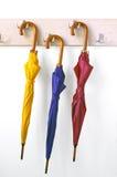 Trois parapluies Images libres de droits