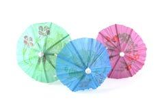 Trois parapluies Photographie stock