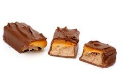 Trois parties de chocolat Photo libre de droits