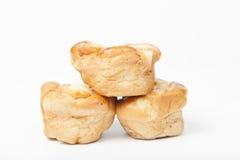 Trois parties de pain Photo stock