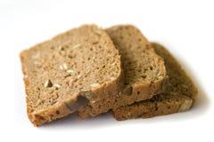 Trois parts de pain Images libres de droits
