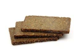 Trois parts de pain de seigle photos libres de droits
