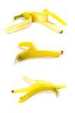 Trois peaux de banane Photographie stock libre de droits