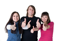 Trois personnes photos stock