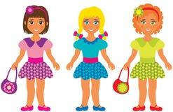 Trois petites filles Photos libres de droits