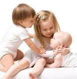 Trois petites filles Photo stock
