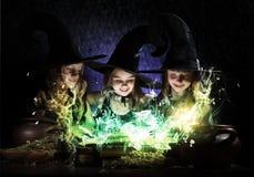 Trois petites sorcières Photo stock
