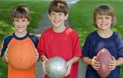 Trois petits garçons Images libres de droits
