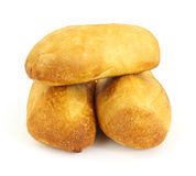 Trois petits pains de pain de levain Photographie stock