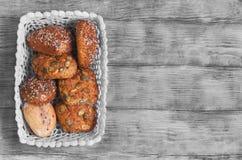Trois petits pains faits maison de seigle Images libres de droits