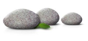 Trois pierres de station thermale Image libre de droits