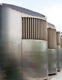 Trois pipes de ventilation Image libre de droits