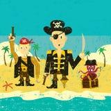 Trois pirates Images libres de droits