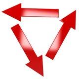Trois pointeurs Image stock