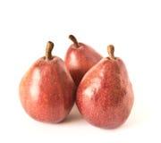 Trois poires rouges Image stock