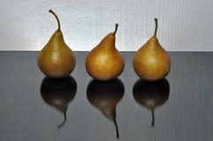 Trois poires Photo stock