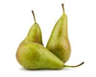 Trois poires vertes photographie stock libre de droits