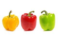 Trois poivrons doux Photo stock