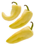 Trois poivrons jaunes Photos stock