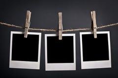 Trois polaroïds Photographie stock