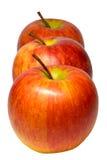 Trois pommes Photographie stock