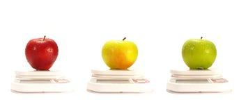 Trois pommes Photo stock