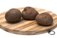 Trois pommes de terre Photos libres de droits