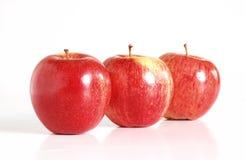 Trois pommes rouges Photo libre de droits