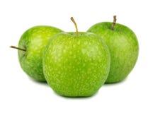 Trois pommes vertes photo libre de droits