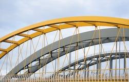 Trois ponts en acier dans une rangée photographie stock libre de droits