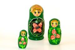 Trois poupées peintes d'emboîtement Image libre de droits
