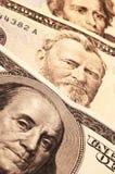 Trois présidents des Etats-Unis sur l'argent comptant Images libres de droits