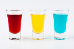 Trois projectiles colorés Photo stock