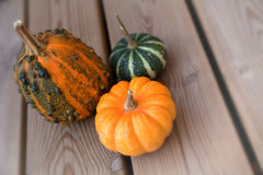 Trois pumkins photo stock