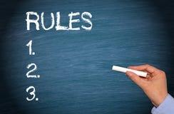 Trois règles Photographie stock libre de droits